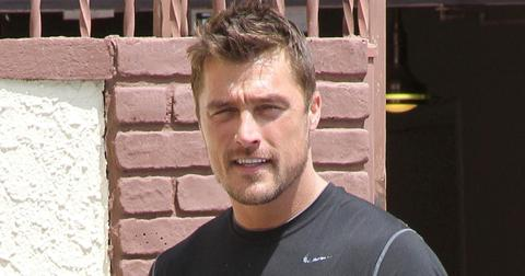 *EXCLUSIVE* Chris Soules deals with a possible cramp or itch at the studio