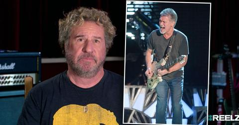 Sammy Hagar with inset of Eddie Van HalenEddie Van Halen Remembered in REELZ Music Documentary