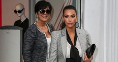 Kim Kardashian and her mom Kris Jenner seen shopping in New York
