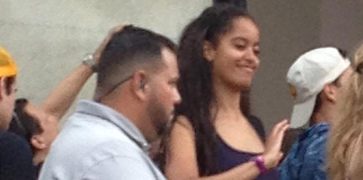President Obama's daughter Malia wears a crop top as she skips DNC for Lollapalooza