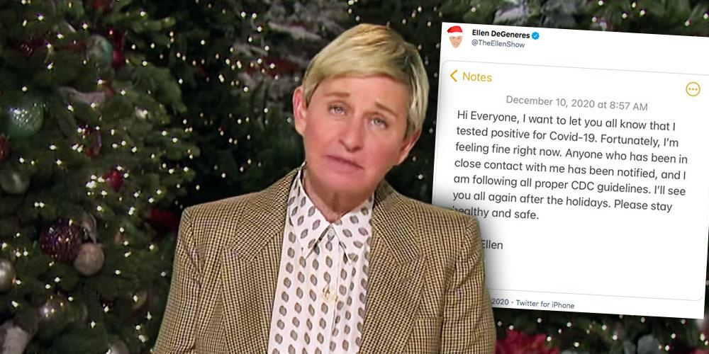 Ellen DeGeneres Reveals She Tested Positive For COVID-19