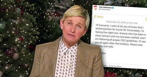 Ellen DeGeneres Reveals She Tested Positive For COVID-19