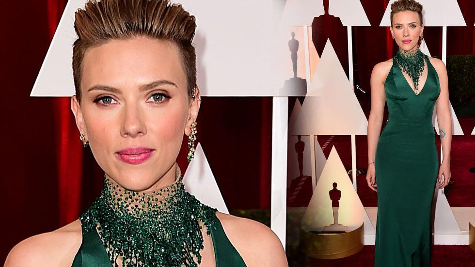 Scarlett johannson 2015 oscars arrivals