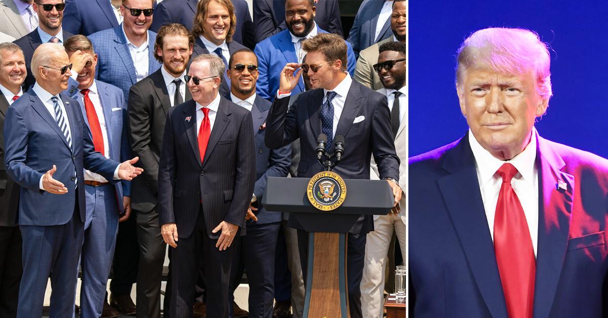 tom brady white house joe biden laugh joke donald trump election loss ok