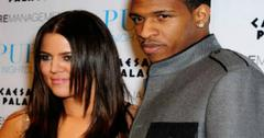 Khloe Kardashian and Rashad McCants on the red carpet.