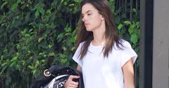 Alessandra ambrosia no makeup luggage pics