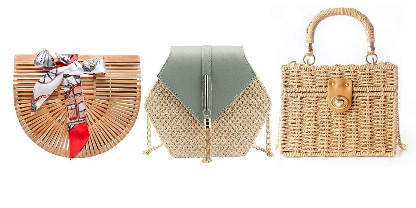 natural bag purse woven beach summer style under  shop