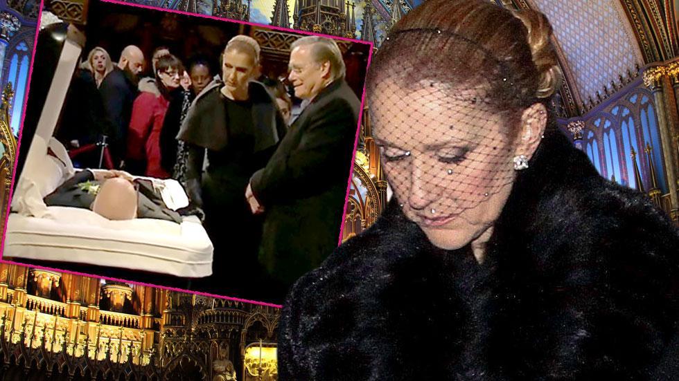 Celine Dion Husband Funeral Rene Angelil