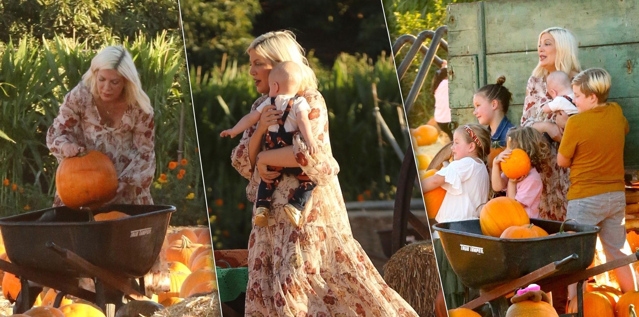 Tori Spelling Dean McDermott Kids Pumpkin Patch