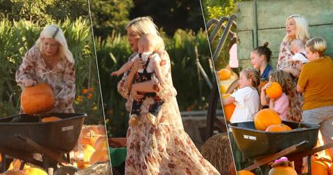 Tori Spelling Dean McDermott Kids Pumpkin Patch