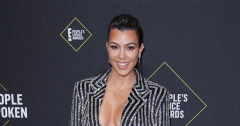 Kourtney Kardashian On Red Carpet
