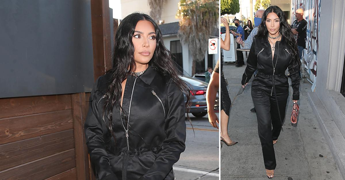 kim kardashian grabs dinner at craigs restaurant in west hollywood