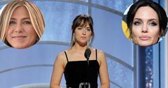 Angelina jolie dakota johnson jennifer anisto golden globes main