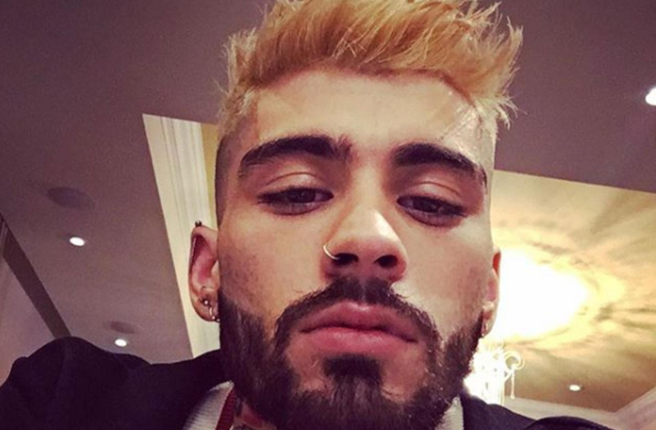 Zayn malik dyes hair blonde after breakup from gigi hadid