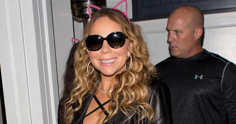 Mariah Carey wearing her 10 million dollar Engagement Ring took her Twin Children out for dinner at 'AU Fudge' in West Hollywood, CA