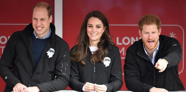Kate Middleton Prince William Harry London Marathon Photos Long