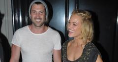 Maksim Chmerkovskiy and Peta Murgatroyd seen leaving Craig's restaurant in Melrose, CA