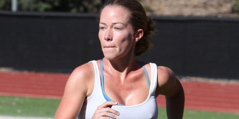 Kendra Wilkinson Playing Soccer