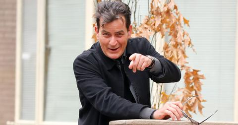Charlie sheen hiv nyc lunch smiles