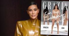 Kim Kardashian on the cover of Grazia Magazine USA