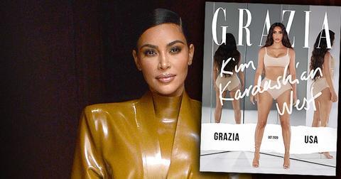 Kim Kardashian on the cover of Grazia Magazine USA