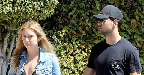 Cute couple Billie Lourd and Taylor Lautner spend a day together