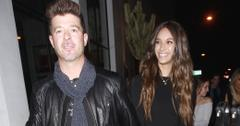 Robin Thicke celebrates his 40th with girlfriend April Love Geary at Catch LA