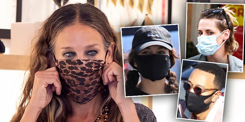 //celebs wearing face masks pf