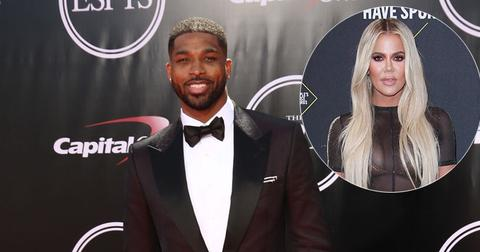 Tristan Thompson On Red Carpet Khloe Kardashian Inset