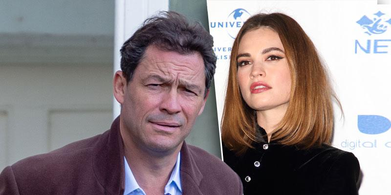 Dominic West Insists His 'Marriage Is Strong' After Kissing Lily James