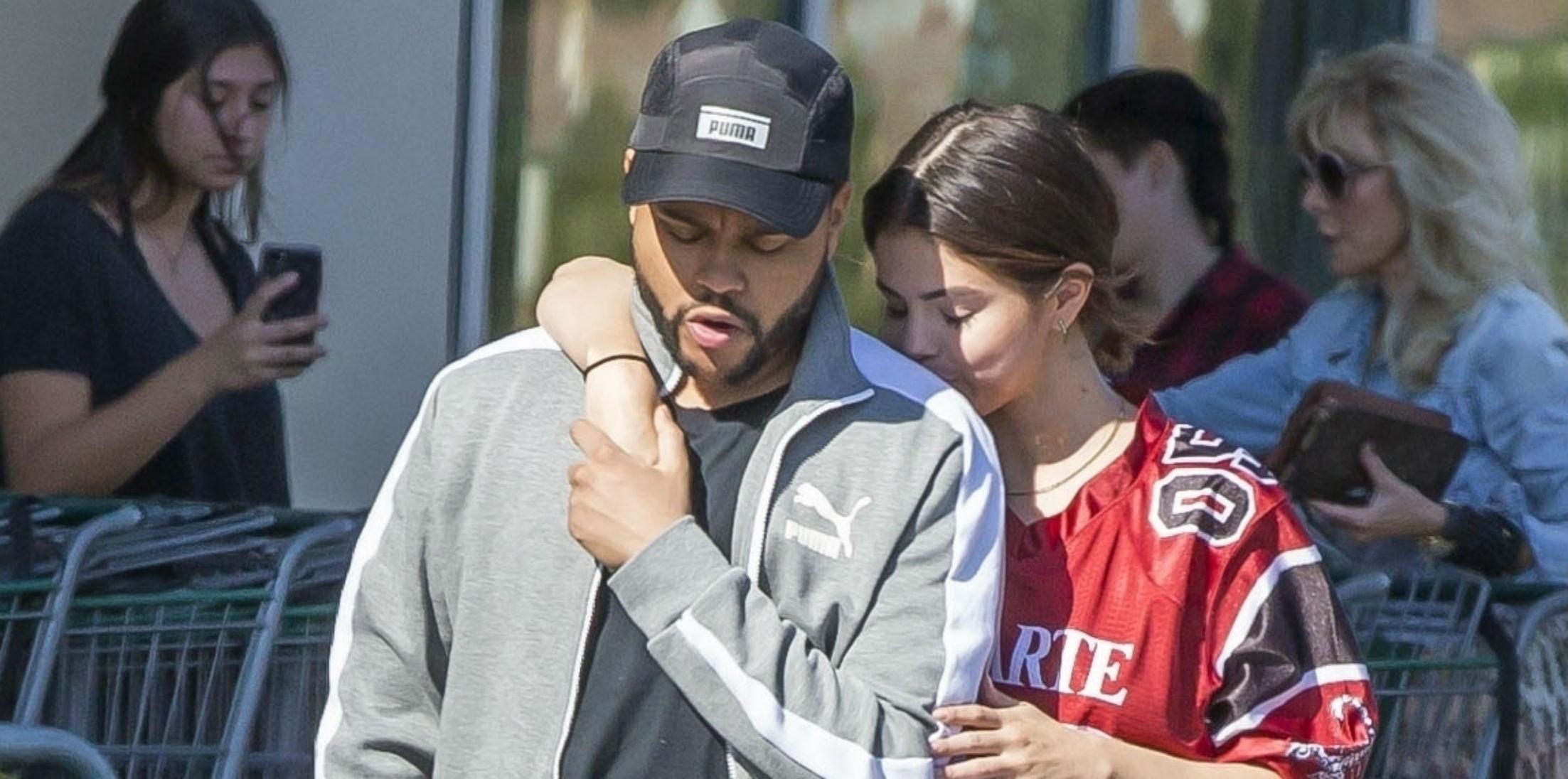 Selena Gomez Dating The Weekend Kissing Photos hero