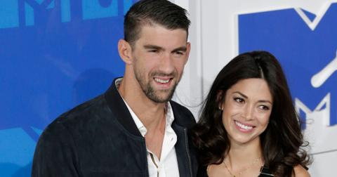 Michael Phelps and Nicole Johnson at the 2016 MTV Music Video Awards