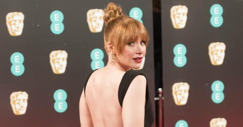 Bryce Dallas Howard looking over her shoulder at the British Academy Awards