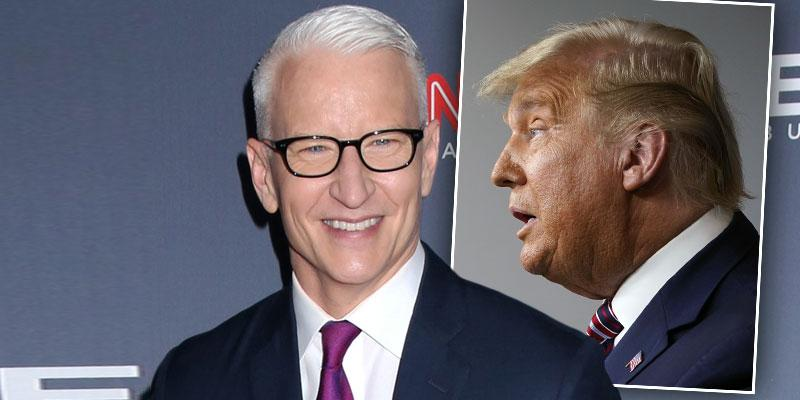 Anderson Cooper, Inset Profile of Donald Trump: Anderson Cooper Calls Donald Trump An 'Obese Turtle' On CNN: Watch