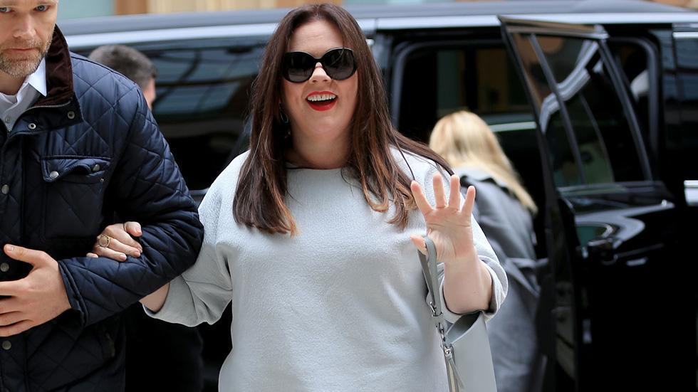 Melissa McCarthy heads to the Crosby hotel in NYC