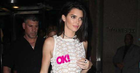 kendall jenner sheer white dress tiffany co event pics pp