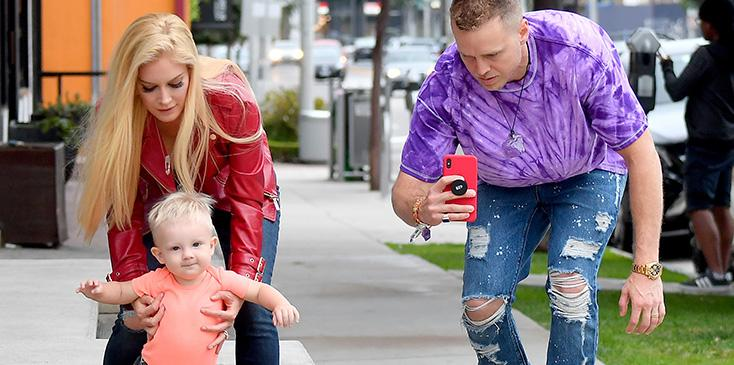 Heidi spencer pratt son walking beverly hills pics