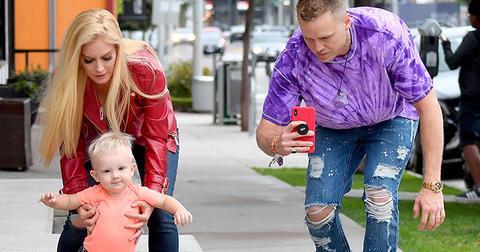 Heidi spencer pratt son walking beverly hills pics