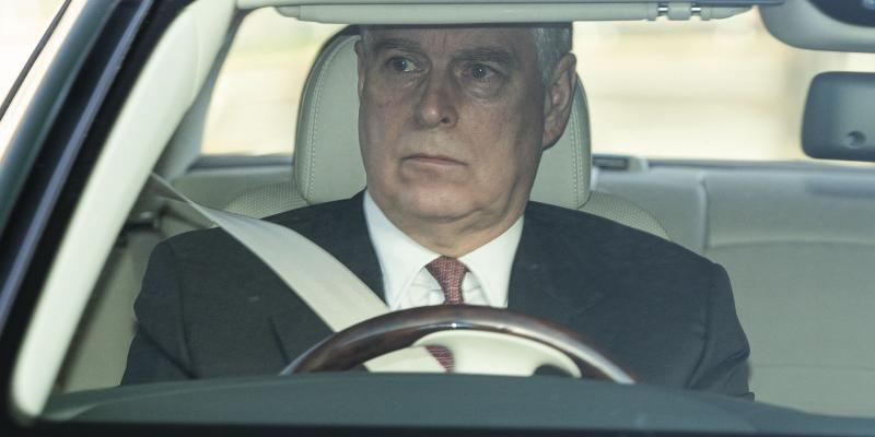 Prince Andrew arrives at a lunch at Buckingham Palace