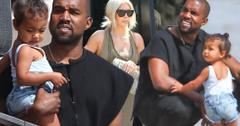 Kanye west north west kim kardashian beach photos
