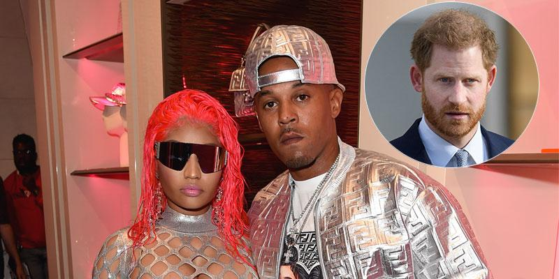Nicki Minaj And Kenneth Petty At An Event Prince Harry Inset